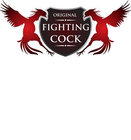 peleando: gallo de pelea Vectores