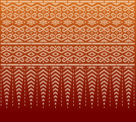 thai silk: Pattern thai silk Illustration