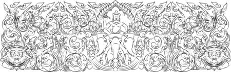 cambodia sculpture: Narai lintel