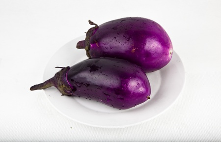 eggplant studio shoot Stock Photo
