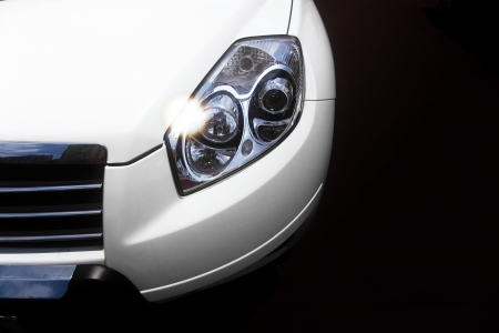 headlamp: car headlight Stock Photo