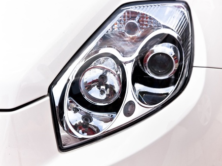 headlamp: car headlight Stock Photo
