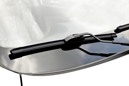 windshield: windshield wiper Stock Photo