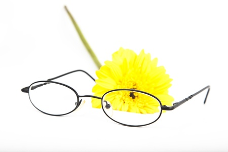 glasses with flower photo