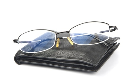 glasses with wallet together photo