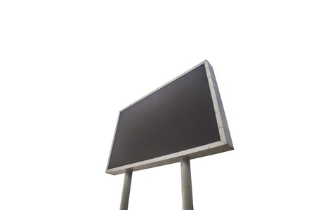 A large LED screen isolated with white background Stock Photo