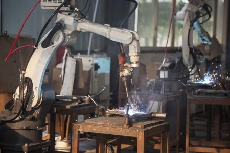 soudage �lectrique dans un atelier de m�canique
