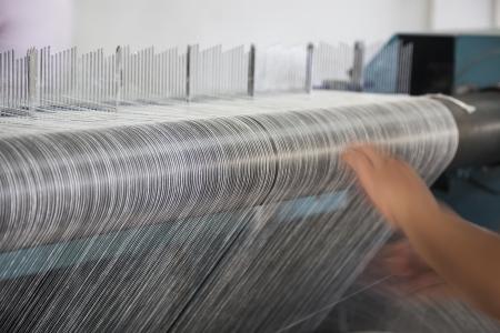 fils de coton dans une usine de filature