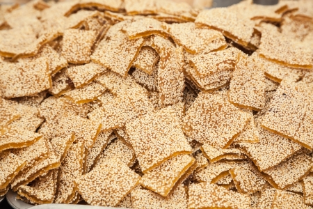 sesame seeds mixed with sugar syrup  Stock Photo - 16775170