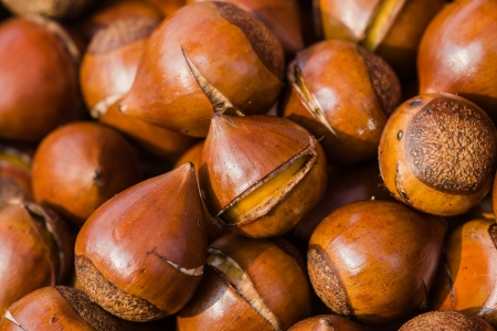 sugar roasted chestnuts Stock Photo