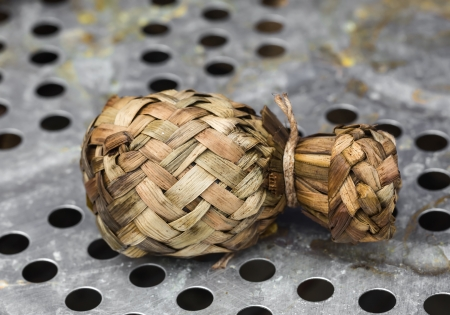 compressed rice: Ketupat - glutinous rice wrapped with leaves