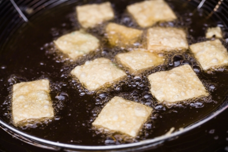 smelly tofu fried in oil Stock Photo - 15455760