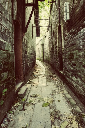 aged: aged alley Stock Photo