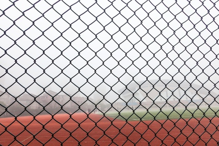 mesh grid in the sport field photo
