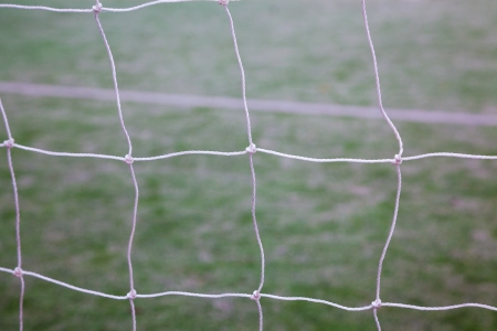 net of soccer gate in the track field Stock Photo - 17844272