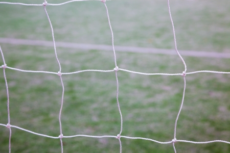 net of soccer gate in the track field Stock Photo - 17844276