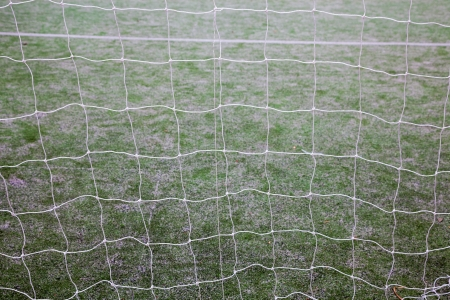 net of soccer gate in the track field Stock Photo - 17844302