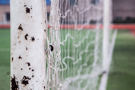 net of soccer gate in the track field Stock Photo - 17844268