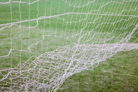 net of soccer gate in the track field Stock Photo - 17844292