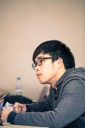 asian �tudiant chinois dans la salle de classe Banque d'images