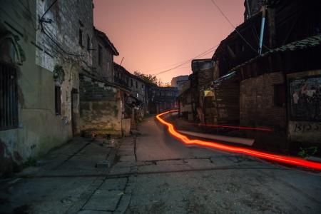 old alley at night photo