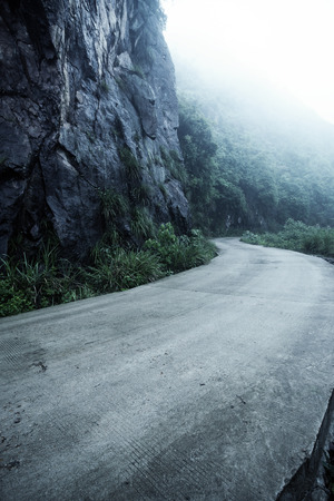 road in the mountain photo