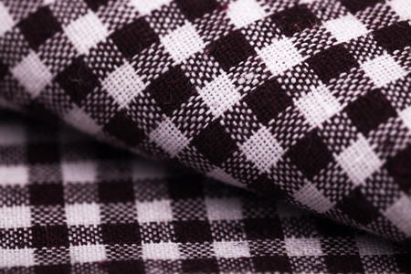 table cloth with brown grid photo