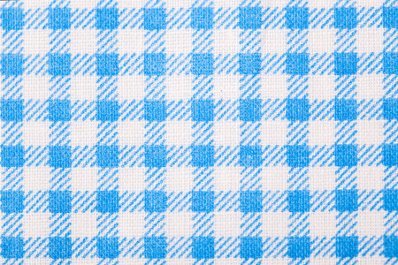 blue table cloth with grid photo