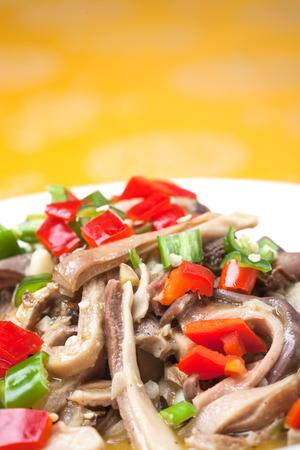 tripe: Pork Tripe stir fried with pepper and celery vegetable