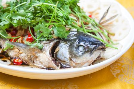 grass carp: deep fried fish with celery
