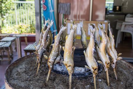 ayu: grilled ayu fish at small shop