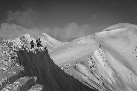 steep drop @ kicking horse ski resort