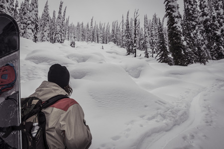 ski touring @ whitewater ski resort, canada