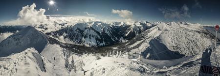 kicking: panorama shot @ kicking horse, canada