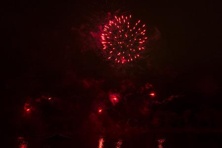 red illuminations Stock Photo