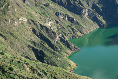 crater lake: crater lake at quilotoa loop Stock Photo