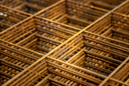 construction material - building material - reinforcing mesh rusty