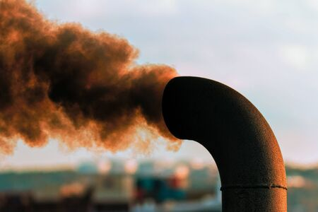 diesel engine spewing out smoke