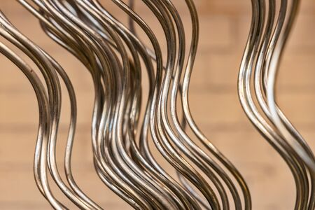 building material - curved metal rods Stock Photo