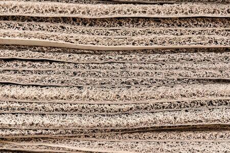 building material - plastic door mats Stock Photo