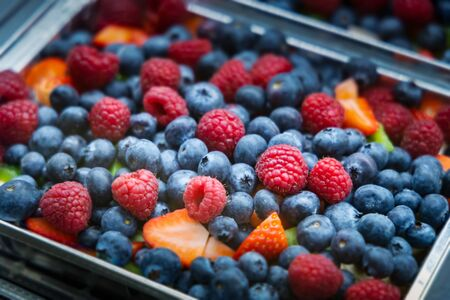 Fresh berries ready to eat