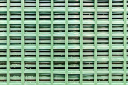 building material - plastic green grating Stock Photo