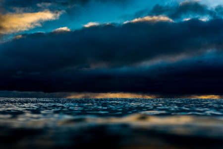 brooding: Ocean under a brooding sky Stock Photo