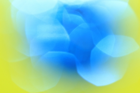 Faded Blue on Yellow - Abstract Art of Color and Background