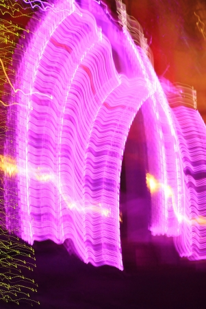 holiday season: Christmas Night Lights in Abstract Format - Beautiful Colors of the Holiday Season - Purple Door with Red, Orange and White