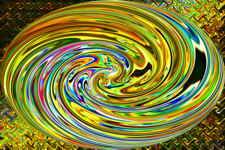 arte abstracto: Neon C�rculo de Velocidad - Color de fondo y del arte abstracto Foto de archivo