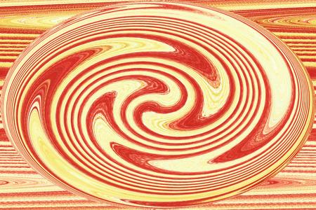 モダンアート: 赤とオレンジ - 現代アート色の背景の渦 写真素材