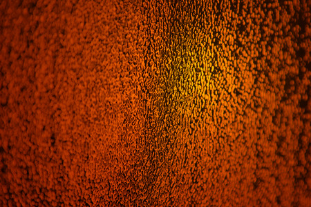 Golden Orange Glass Surface