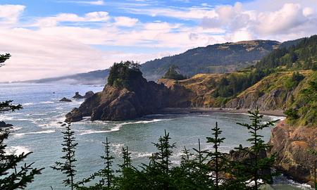 Beautiful Oregon coast, USA Stock Photo