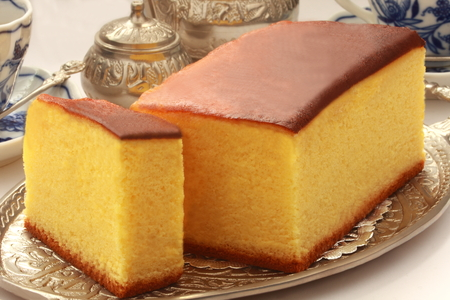 Japanese sponge cake Castella, Japanese Food Stock Photo